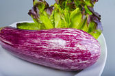 Refine white-red aubergine — Stock Photo