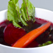Botwinka (for soup from young red beet plants, Polish) - Stock Photo