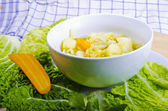Parzybroda-Savoy cabbage soup — Stock Photo