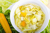 Parzybroda-Savoy cabbage soup — Stock Photo