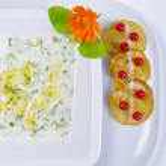 Polish dill soup — Stock Photo