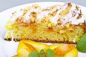 Apricot cake — Stock Photo