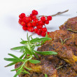 Grilled cervical chop with herbs — Stock Photo