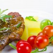 Grilled cervical chop with herbs - Lizenzfreies Foto