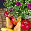Stock Photo: Fruit with flowers