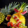 Crab spits with pineapple — 图库照片