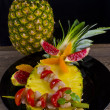 Crab spits with pineapple — Stock fotografie