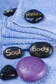 Massage stone — Stock Photo