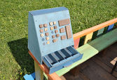 Toy cash register. — Stock Photo
