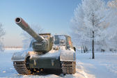 Self-propelled artillery. — Stock Photo