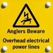 Stock Photo: Anglers beware sign