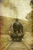 Vintage effect steam engine — Stock Photo