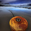 Beached mooring buoy — Stock Photo