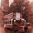 Stock Photo: Vintage tour bus