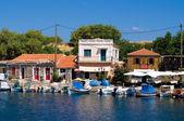 Greek harbor — Stock Photo