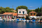 Greek harbor — Stock Photo