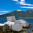 Stock Photo: Marble breakwater
