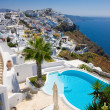 Stock Photo: Santorini swimming pool