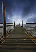 Wide angle jetty — Stock Photo