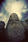 Brooding castle tower — Stock Photo