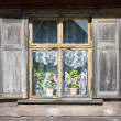 Window of an old house with flowers - Photo