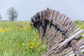 Fence in a field — Stock Photo