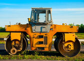 Roller for asphalt — Stock Photo