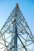 Radio tower, mobile base — Stock Photo