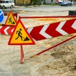 Stock Photo: Detour signs