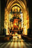 Interior of church in Viena — Stock Photo