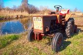 Soviet tractor — Stock Photo
