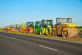 Machinery for asphalt — Stock Photo