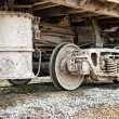 Royalty-Free Stock Photo: Dirty wagons weel