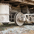 Dirty wagons weel - Stock Photo