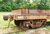Old wagon for transportation of metal — Stock Photo