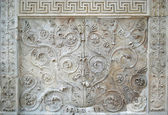 Tellus panel of Ara Pacis — Stock Photo