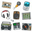 Dj sound set - Stock Vector