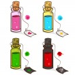 Good and bad potions — Stock Vector
