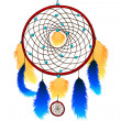 Indian dream catcher — Stock Vector