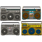Boom box set — Stock Vector