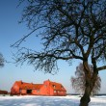 Old farm on danish east coast — Stock Photo