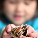 pengar barn — Stockfoto