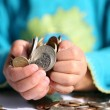 geld kind — Stockfoto