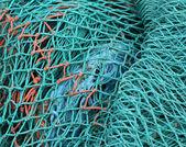 Fishnet in a harbor in denmark — Stock Photo