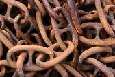 生锈的链 — 图库照片