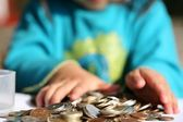 Money child — Stockfoto
