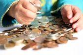 Money child — Stock Photo