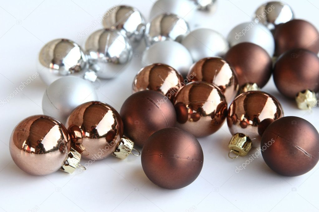 Christmas decorations , balls and other decorations in denmark  Stock Photo #5564376