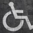Handicapped park sign — Stock Photo