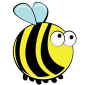 Springtime bumblebee — Stock Vector